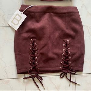 Suede feel skirt by runaway